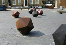 Landscape Street Furniture / A collection of various bollards within the landscape.