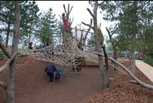 Landscape Play / Images of structured and informal play elements within the landscape.