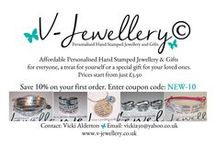 www.v-jewellery.co.uk / Personalised Hand Stamped Jewellery & Gifts Our primary aim is to provide high quality personalised products that are affordable for everyone, a treat for yourself or a special gift for your loved ones. Prices start from just £5