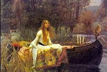 The Lady of Shalott / There she weaves by night and day   A magic web with colours gay.   She has heard a whisper say,   A curse is on her if she stay,   To look down to Camelot.   She knows not what the 'curse' may be,   And so [6] she weaveth steadily,   And little other care hath she,   The Lady of Shalott.