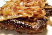 Liver & Onions (+/- Bacon) / Liver, Onions & Bacon is one of my favorite dinners. If it's prepared and cooked correctly... you'll love it, too !!!! / by Brett Young