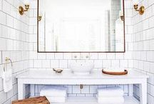Bathroom Ideas / Just because it's an everyday space, it doesn't mean it can't benefit from a nice makeover. Check out these awesome ideas below that will totally make the bathroom your favorite place and feel free to ask us to do for you, you'll only need to contact us at homeyou.com!