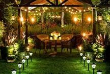 Yard Inspiration / Who will want to stay indoors when you have a beautifully decorated backyard? Have some friends and let the kids run loose while you relax! Don't know how to start? Check out homeyou.com and find out how to get started!