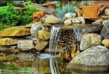 Ponds and Fountains / Aren't these ideas dreamy? You could relax, read a book, do yoga, meditate or just have a good time around a beautiful pond, fountain or artificial lake. It sure will impress the guests! Check out homeyou.com so you can add one of these to your house too!