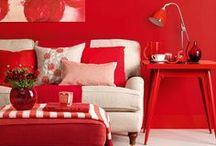 Red Hot Interior Design / Red is the color of love and passion - basically, the more the better! Amelie Poulain nailed the look, so why can't you?