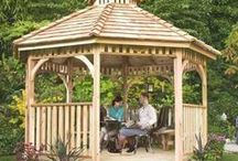 Gazebo Ideas / Gazebos are zen, relaxing... They're simply the perfect place to write, to read, or, you know, to check Instagram. You can easily design a dreamy gazebo with homeyou.com =)
