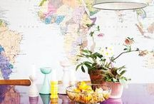 Maps / Since not everybody has the money to travel the world... Let's at least let our minds wander with these awesome map-inspired decor ideas!