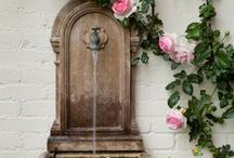 The Fountain / Nothing is more relaxing than an endless stream of water in a beautiful fountain. Except a long vacation, but, a backyard fountain is cheaper! Go to homeyou.com to find out how to get a fountain built too!