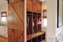 Mudroom / There's no excuse to get the house dirty when you have such an awesome mudroom. Any small space can be of service: just check out these ideas below to implement them at your house or get homeyou.com to make one for you!