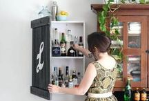 Raising the Bar / These bar ideas are so cool that you'll want to keep making cocktails 24/7. If you want a kickass bar installed at your house, check out homeyou.com to find out how to get one!