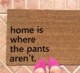 Welcome Mats! / First impression is the only thing that counts, so make sure to make a kickass one with a badass welcome mat!