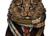 Cat Doctors / Doctor Who em forma de gatos! // Doctor Who as cats! By artist http://www.jennyparks.com/