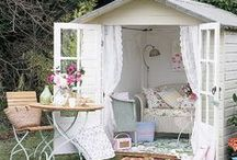 She-Sheds / For every man cave, there's an awesome she-shed waiting for you. Check out some dreamy ideas below and go to homeyou.com to make them into reality!