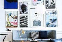 Creative Gallery Walls / A gallery wall is where you express your creativity and show your personality!
