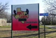 Pope's Landing Marina / Lake Fork's #1 place for RV lots, cabin rentals, boat ramps, and tackle supplies!