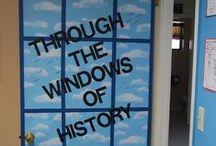 classroom window and door