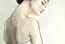 ILLUSTRAZIONI / Disegni, quadri, illustrazioni, pitture, qualsiasi intervento sulla carta tramite un pennello o una matita.