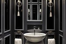 amazing bathrooms / Bathroom decor inspiration, remodelling ideas, luxurious bathroom style, black bathroom decoration, bathroom makeover.