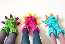 Slipper's em crochê  / Sapatilhas, meias, pantufas...