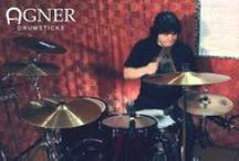 Drumfan / Барабанные палочки - Agner (Швейцария). Sympad - прокладки для тарелок. Rimma - держатели барабанных палочек. Guthschmidt-Fusspercussion - перкуссии для игры ногами.  И многое другое...