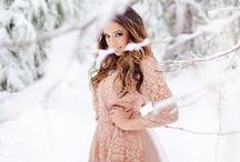Winter Portraits / Winter portrait photography ideas, beautiful holiday photography, winter photoshoot inspiration.