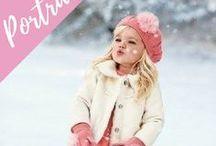 Winter Portraits / Winter portrait photography ideas, beautiful holiday photography, winter photoshoot inspiration.