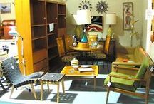 Mid Mod Kitsch Booth Ideas / I want my booth to be of this era...surrounded by all of the endless antique wood furniture.