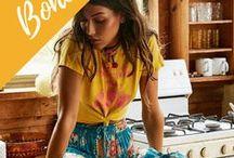 Bohemian / Bohemian fashion for women, gypsy style, summer, modern and vintage, boho inspiration, hippie fashion, indie fashion, fall boho chic style.