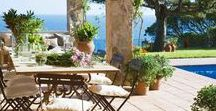 The patio / Outdoor patio design ideas, DIY, backyard decor, Italian inspired gardens, lounge areas, Mediterranean   porch inspo and photography.