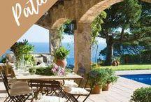 The patio / Outdoor patio design ideas, DIY, backyard decor, Italian inspired gardens, lounge areas, Mediterranean   porch inspo and photography.