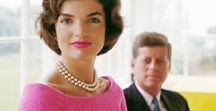 Jackie / Jacqueline Kennedy Onassis - Former First Lady of the United States - inspiration, fashion outfits, family images, style icon.