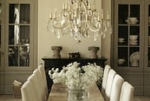 INTERIORS - DINING SPACES / No longer is dining delegated only to formal dining rooms, we now eat in the most casual to the most formal of spaces. / by Lesa Steele