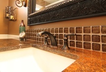 Granite Vanities / Granite comes in a variety of patterns and colors. We use it often when we do bathroom remodels.