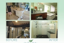 Bathroom Remodel Before/After / Here are some of the many bathroom remodels we have done with a sided by side comparison of the before and after photo shots.