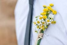 Inspiration - boutonnieres / farm flowers for Massachusetts weddings
