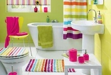 Bathrooms Full of Color / A compilation of bathrooms that are colorful and fun!