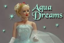 "2004 - ""Aqua Dreams"" Vivian Dressed Doll, Circa 1950s / Exclusive 16"" Vivian Dressed Doll For Browns Gallery - Your Canadian Connection, LE: 30"