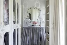 Romantic Style Interiors / Pretty, romantic, draping fabric, luxe looks...