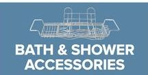 Bath and Shower Accessories / Must have accessories for the bath and shower. We offer our Bath Caddies, Shower Caddies, Toothbrush and Toothpaste Holder with Drinking Cup, Shampoo and Soap Dispenser Automatic Soap Dispensers, Deluxe Shampoo and Soap Dispenser, Bathroom Scales, Toilet Brush Holders, Toilet Paper Dispenser with Magazine Rack, Squeegees, Toilet Brush Holder with Lid and our STORMp3.