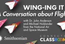 WINGing it: A Conversation about Flight / Smithsonian online learning resources to support a Google Connected Classrooms Hangout, highlighting aspect ratio and wing shape, as key features in successfully flying everything from a model glider to a real airplane!   https://plus.google.com/u/0/events/co6k367ohlj7o0ih64l8fue66no