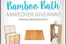 Dream Bathroom #BambooBathMakeOver / Your dream bathrooms and the accessories you would love to see in them. You could win  a full ToiletTree Products Bamboo Bathroom Makeover Set. #BambooBathMakeOver