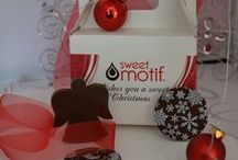 Tis the season Chocolates & Gifts by Sweet Motif / Chocolate the mood this festive season and treat your staff, friends and family this Christmas.