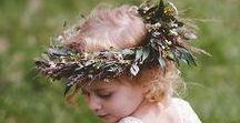 Blumenkränze ~ Flower Crowns  / Ob Braut, Trauzeugin oder Blumenmädchen, ob zart, üppig oder verspielt: ein Blumenkranz macht aus jeder Frau und jedem Mädchen eine Prinzessin, eine Fee!