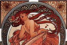 Alphonse Mucha / Polifacético artista, pintor, decorador y cartelista considerado uno de los mayores representantes del Art Nouveau, pionero del merchandising y precursor de la publicidad moderna.