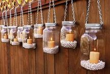 DIY with jars and glasses