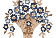 """Baskets and Blooms / """"Baskets and Blooms"""" Applique Quilt designed from the Favorite Things collection by Gerri Robinson for Red Rooster Fabrics."""