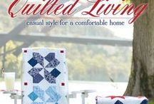 """Quilted Living"" Book / Casual and fun quilts designed from the Summer Cottage Collection by Gerri Robinson for Red Rooster Fabrics featured in the Quilted Living book published by It's Sew Emma."