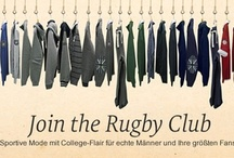 Join the Rugby Club! / It gets sporty! Since we loved the college jackets for the summer and autumndays, it's now time for rugbyshirts, casual buttondowns and cosy sweaters! Let's get physical, Guys!