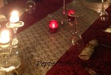 Murder Mystery Table Flowers and Decoration / 1920s theme party