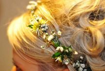 Floral crowns and Wedding hair flowers / #beautiful #wedding #hair #styles and #fresh #flowers #floral #crowns for #brides #flowergirls